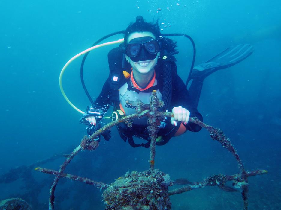 Shipwreck Pioner, near St.Ivan Island, Sozopol, Bulgaria